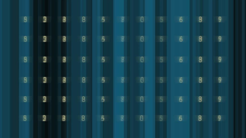 Technology Video Menu Background with Digits in Abstract Backdrop