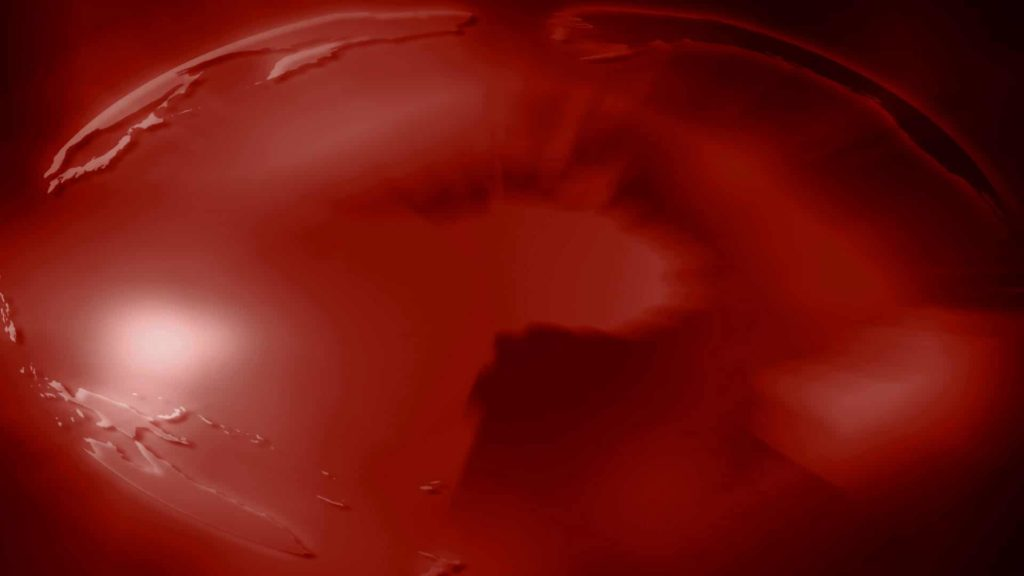 Globe Themed Video Menu Background with Earth Closeup in Red
