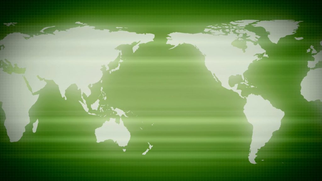Video Menue ClipArt Of A Green Map Of The Earth