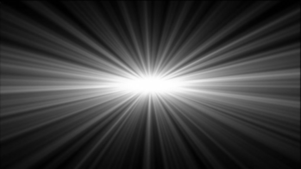 Abstract Video Transition with Central Light Spot Irradiating Light Beams