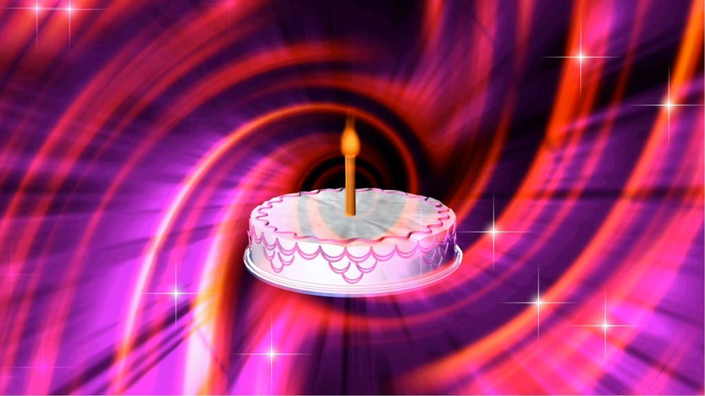 A Holiday Themed Video Menue Background Based on Cake on a Vivid Pink and Purple Abstract Background