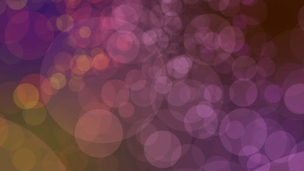 Ligths Video Menue Themed Pink, Purple and Orange Bokeh Effect Background