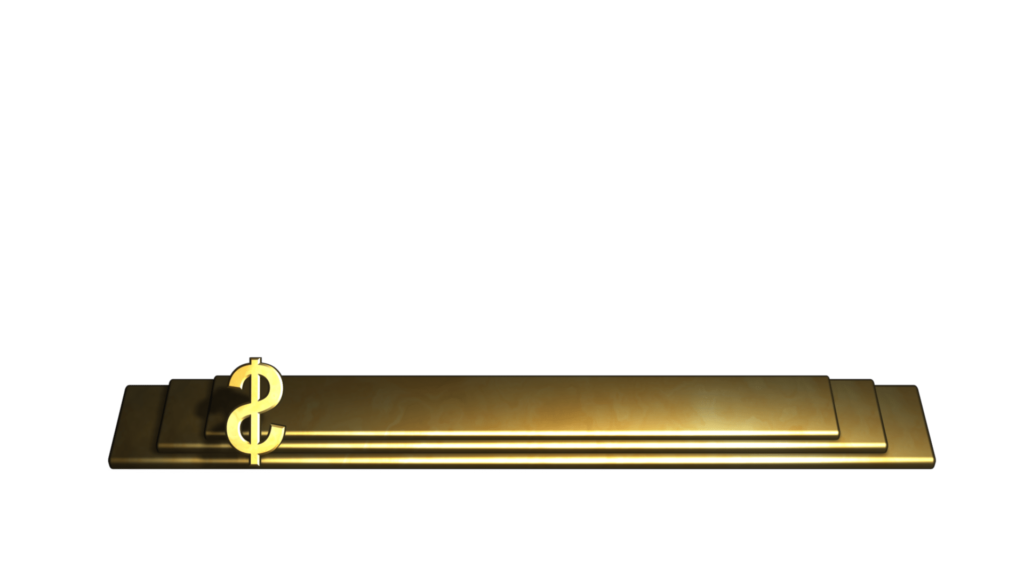 Business Themed Still Video Lower Third with Gold Bars and Dollar Symbol