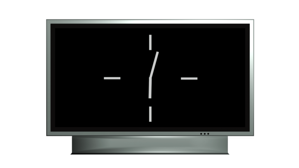 A Time Based ClipArt Of A White Analogue Clock On A Wide Screen