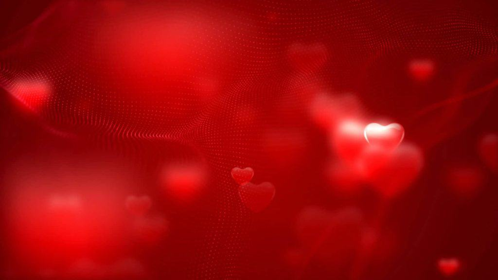 Wedding Video Menue Themed Red Background With Hearts